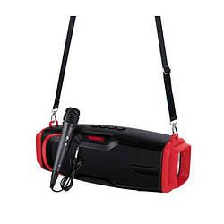 Портативная Bluetooth колонка New Rixing NR6012M + микрофон Black/Red