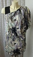 Платье женское модное туника вискоза бренд River Island р.44-46 5284а
