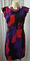 Платье женское легкое летнее яркое мини бренд George р.46 5286
