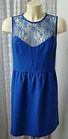 Платье женское летнее нарядное яркое гипюр мини бренд New Look р.50 5290