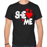 Мужская футболка «She loves me»