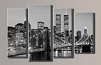 "Модульная картина на холсте из 4-х частей ""New York City"""