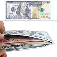 Шикарный кошелек 100 долларов или евро , денежные кошельки - креативный дизайн