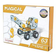 """Металевий конструктор """"Серія Будівельники"""" Build and Play Tools 816B-3 (Автокран)"""