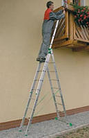 Аренда Трехсекционной алюминевой лестницы-стремянки. Алюмет. Без денежного залога.  Днепропетровск