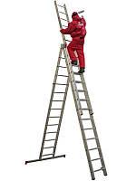 Аренда прокат лестниц трехсекционных универсальных 6,46 м - выгодные цены Днепропетровск