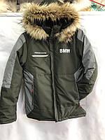 """Куртка подростковая зимняя BMW на мальчика размеры 36-44 (3цв) """"MUSTANG"""" недорого от прямого поставщика"""
