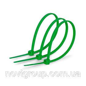 Стяжки нейлон 3х150mm зелені (1000 шт) висока якість, діапазон робочих температур: від -45С до + 80С