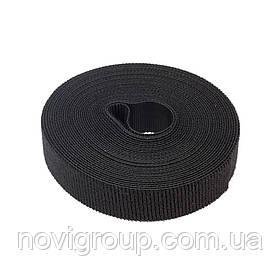 Стяжки на липучці ширина 12мм, рулон 45м, чорні, ціна за рулон