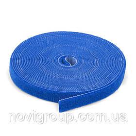 Стяжки на липучці ширина 10мм, рулон 45м, сині, ціна за рулон