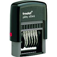 Нумераторы, штампы с терминами Trodat 4846