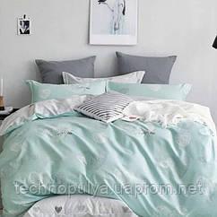 Постільна білизна Vanilla Home Сімейний Бірюзовий