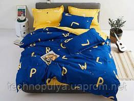 Постільна білизна Vanilla Home Сімейний Жовто-синій