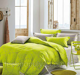 Постільна білизна Vanilla Home Сімейний Зелено-сірий