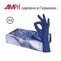 Перчатки нитриловые размер xs, черника 100шт.