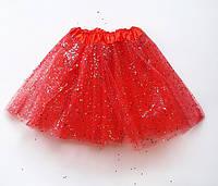 Юбка пачка фатиновая детская (красная) до 6 лет
