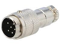 MIC345 Штекер 5-конт. на кабель металл. Корпус