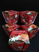 Свечи ароматизированные в стакане BARTEK Gingerbread