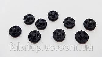 Кнопка пластиковая 8 мм черная пришивная