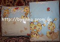 """Бортики и комплект постели в кроватку новорожденного-""""Голубые пчелы"""".Цвета в ассортименте"""