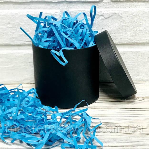 ОПТ 500 грамм Бумажный наполнитель для коробок 4мм Голубой