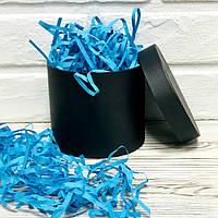 ОПТ 500 грамм Бумажный наполнитель для коробок 4мм Голубой, фото 1