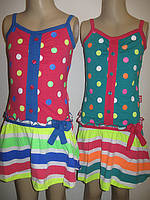Платье-сарафан для девочек оптом, размеры 98,104,110, арт. СН-1917