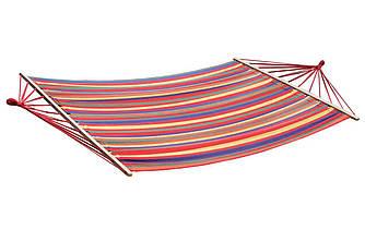Двухместный гамак RIO XXL Разноцветный  200х150 с планкой WCG
