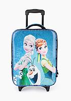 """Детский чемодан для девочек на 2 колесиках """"Эльза и Анна"""", телескопическая ручка 2 положения"""