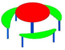 Столик для дитячого майданчика,шестимісний.