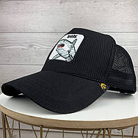 Стильная молодежная кепка черная с акулой бейсболка с сеткой тракер
