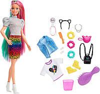 Кукла Барби радужный леопард Barbie Leopard Rainbow Hair Doll GRN81