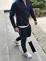 Спортивный мужской костюм черно синий цвета стильный спортивний костюм Nike 2021 мужской Черный