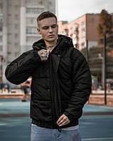 Стильная мужская зимняя куртка Over base цвет черный мужская молодежная зимняя курточка черного цвета