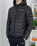 Мужская курточка Adidas черного цвета мужская куртка Адидас черного цвета теплая Мужской пуховик Адидас
