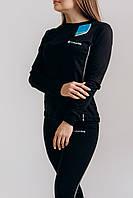 Женский комплект Термобелья Columbia женское тёплое зимнее термобельё для девушки чёрного цвета