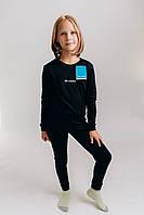 Детское зимнее Термобелье Columbia Теплый зимний комплект термобельё для детей черного цвета