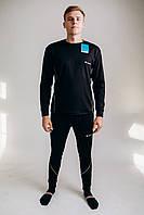 Мужское комплект зимнего Термобелья Columbia тёплое зимнее термобельё для мужчины чёрного цвета