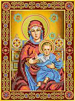 """Схема для вышивки бисером икона """"Венчальная пара. Богородица"""""""