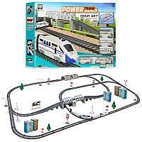 Дитяча залізниця Power Train World BSQ 2181 на батарейках зі швидкісним потягом 914см