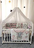 """Комплект Дитячої Постільної Білизни Захист - бортики в ліжечко """"Панелі"""" ( 4 кольори)"""