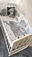 """Комплект Дитячої Постільної Білизни Захист - бортики в ліжечко """"Тедді"""" ( 5 кольорів)"""