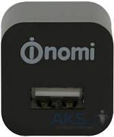 Зарядное устройство Nomi Сетевое Зарядное Устройство 1А Черное (HC05101)