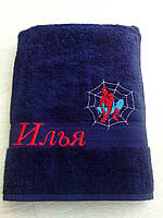 Полотенце с вышивкой имени на заказ (40*70 для рук)