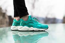 Женские кроссовки Nike Air Huarache Run Rio Teal/Rio Teal/Black 634835 301, Найк Аир Хуарачи, фото 3