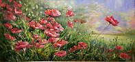 «Цветение маков» картина маслом