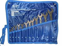 Набор ключей комбинированных Сибртех  12 шт. НКК-12 (6-22мм) CrV, фосфатированные (15477) Киев.