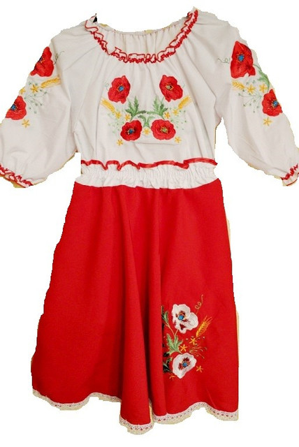 Вишиванки для дівчаток (машинна вишивка)  блузки b9982d9be6331