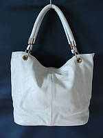 Женская кожаная сумка, белая