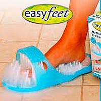 Массажные тапочки для душа с пемзой Easy Feet, фото 1